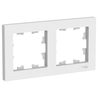 Рамка Schneider Electric AtlasDesign двухпостовая Белый
