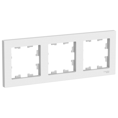 Рамка Schneider Electric AtlasDesign трехпостовая Белый