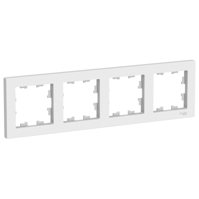 Рамка Schneider Electric AtlasDesign четырехпостовая Белый