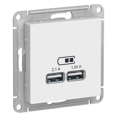 ATN000133 Розетка USB 2.1A Бел AtlasDesign