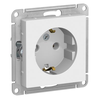 Розетка Schneider Electric AtlasDesign с заземляющим контактом Белый