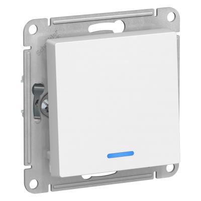 Выключатель Schneider Electric AtlasDesign одноклавишный с подсветкой Белый