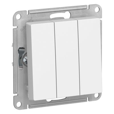 Выключатель SchneiderElectricAtlasDesign трехклавишный безподсветки Белый