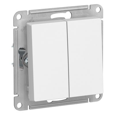 Выключатель Schneider Electric AtlasDesign двухклавишный Белый