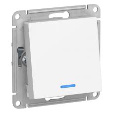 Переключатель Schneider Electric AtlasDesign одноклавишный с подсветкой Белый