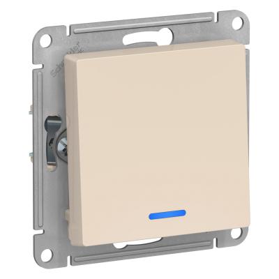 Выключатель Schneider Electric AtlasDesign одноклавишный с подсветкой Бежевый