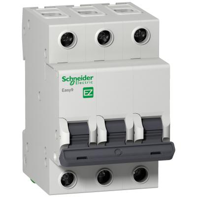 Выключатель автомат. 3Р 50А тип С EASY 9