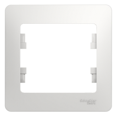 Рамка Schneider Electric Glossa однопостовая Белый