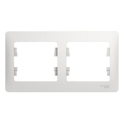 Рамка Schneider Electric Glossa двухпостовая Белый