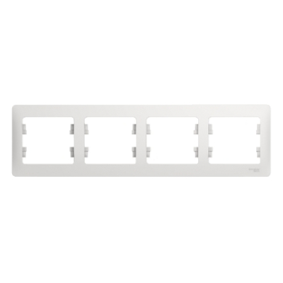 Рамка Schneider Electric Glossa четырехпостовая Белый