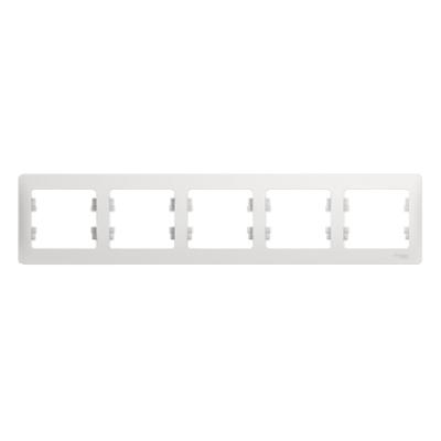 Рамка Schneider Electric Glossa пятипостовая Белый