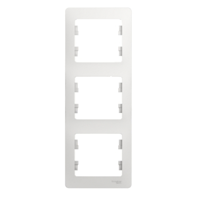Рамка Schneider Electric Glossa трехпостовая Белый