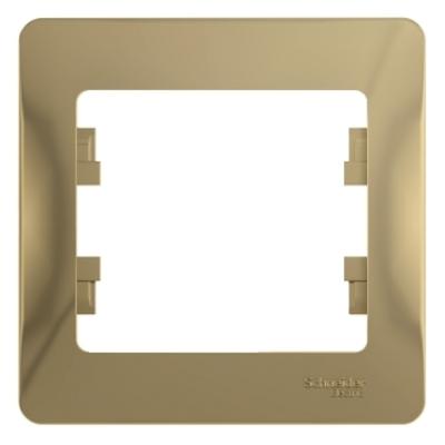 Рамка Schneider Electric Glossa однопостовая Титан
