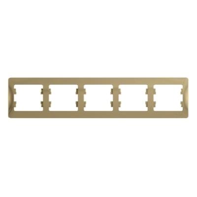 Рамка Schneider Electric Glossa пятипостовая Титан