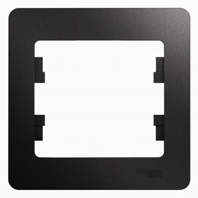 Рамка Schneider Electric Glossa однопостовая Антрацит
