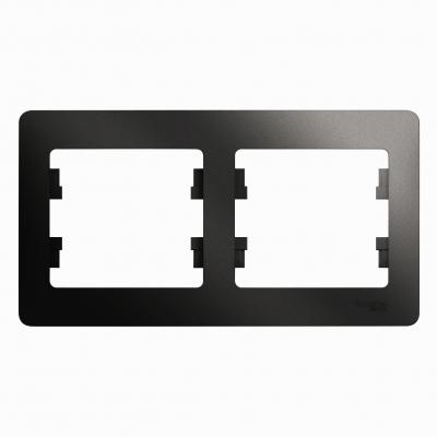 Рамка Schneider Electric Glossa двухпостовая Антрацит