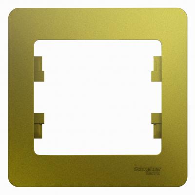 Рамка Schneider Electric Glossa однопостовая Фисташковый