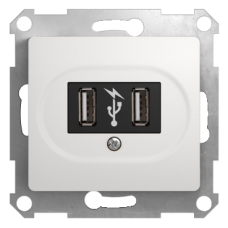 Розетка USB Бел. Glossa