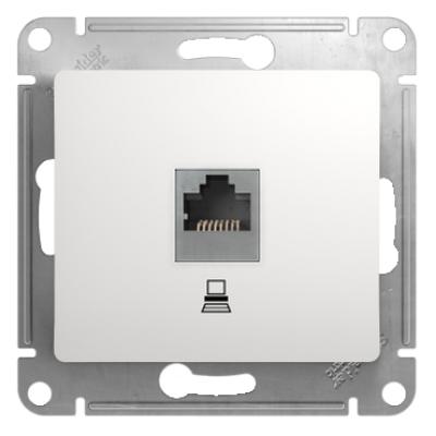 Информационная розетка Schneider Electric Glossa 8P8C (Интернет) Белый