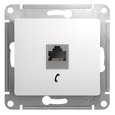 Информационная розетка Schneider Electric Glossa 6P4C (Телефон) Белый