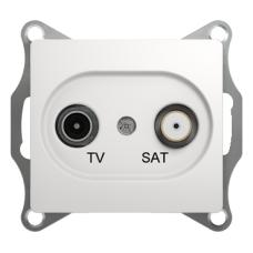 TV- SAT Розетка одиночная Белый Glossa