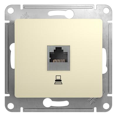 Информационная розетка Schneider Electric Glossa 8P8C (Интернет) Бежевый