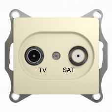 TV- SAT Розетка одиночная Беж Glossa