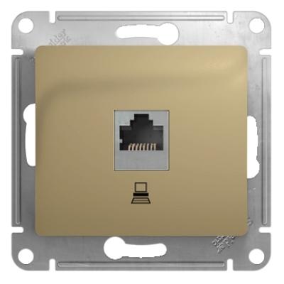 Информационная розетка Schneider Electric Glossa 8P8C (Интернет) Титан
