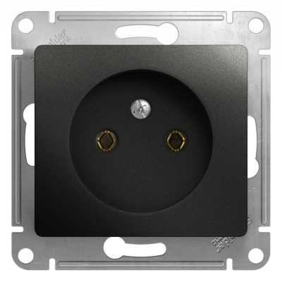 Розетка Schneider Electric Glossa  Антрацит