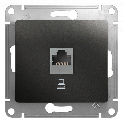 Информационная розетка Schneider Electric Glossa 8P8C (Интернет) Антрацит