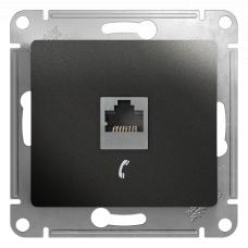 Информационная розетка Schneider Electric Glossa 6P4C (Телефон) Антрацит