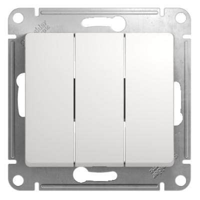 Выключатель Schneider Electric Glossa трехклавишный Белый