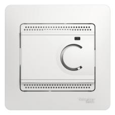 Термостат электронный теплого пола Белый Glossa