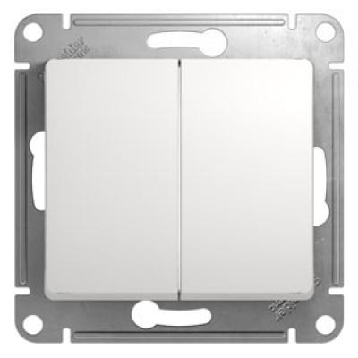 Выключатель Schneider Electric Glossa двухклавишный Белый