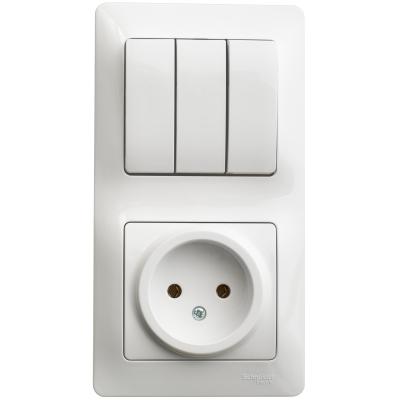 Розетка Schneider Electric Glossa  Белый