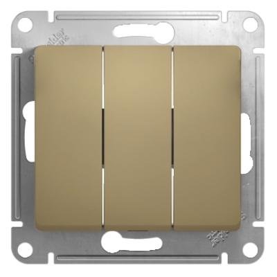 Выключатель Schneider Electric Glossa трехклавишный Титан