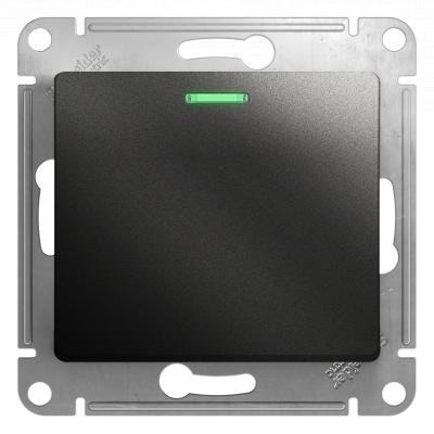 Выключатель Schneider Electric Glossa одноклавишный с подсветкой Антрацит
