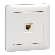 Информационная розетка Schneider Electric Хит 6P4C (Телефон) Белый