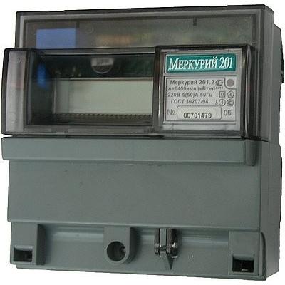 Счетчик эл/энергии 1-фаз.Меркурий 201.2 5-60А  кл.1 220В