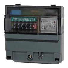 Счетчик эл/энергии 1-фаз.Меркурий 201.5 5-60А кл.1 220В