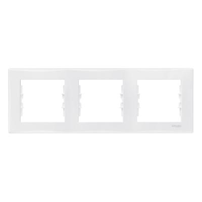 Рамка Schneider Electric Sedna трехпостовая Белый
