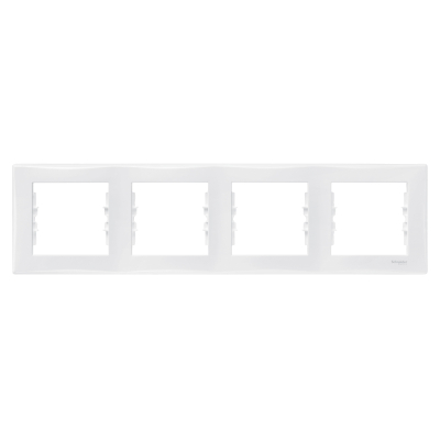Рамка Schneider Electric Sedna четырехпостовая Белый