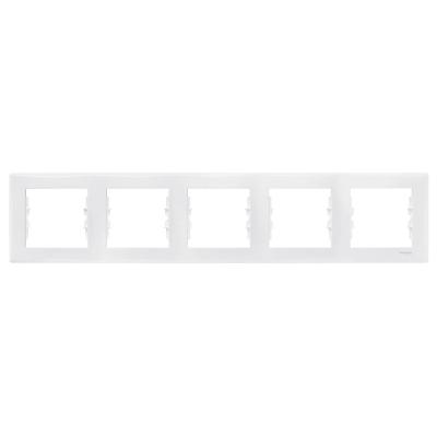 Рамка Schneider Electric Sedna пятипостовая Белый