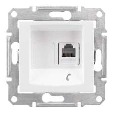 Информационная розетка Schneider Electric Sedna 6P4C (Телефон) Белый