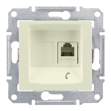 Информационная розетка Schneider Electric Sedna 6P4C (Телефон) Бежевый