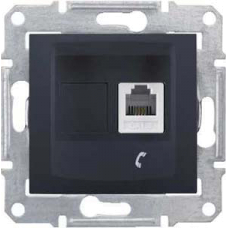 Информационная розетка Schneider Electric Sedna 6P4C (Телефон) Графит