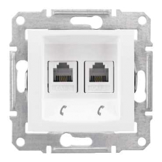 Информационная розетка Schneider Electric Sedna 6P4C (Телефон) двойная Белый