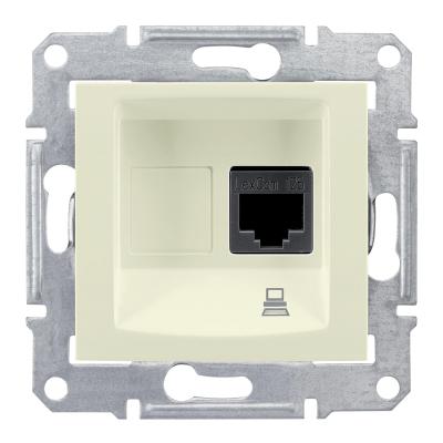 Информационная розетка Schneider Electric Sedna 8P8C (Интернет) Бежевый