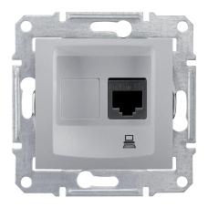 Информационная розетка Schneider Electric Sedna 8P8C (Интернет) Алюминий