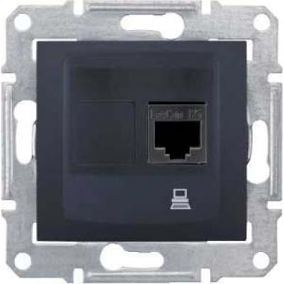 Информационная розетка Schneider Electric Sedna 8P8C (Интернет) Графит